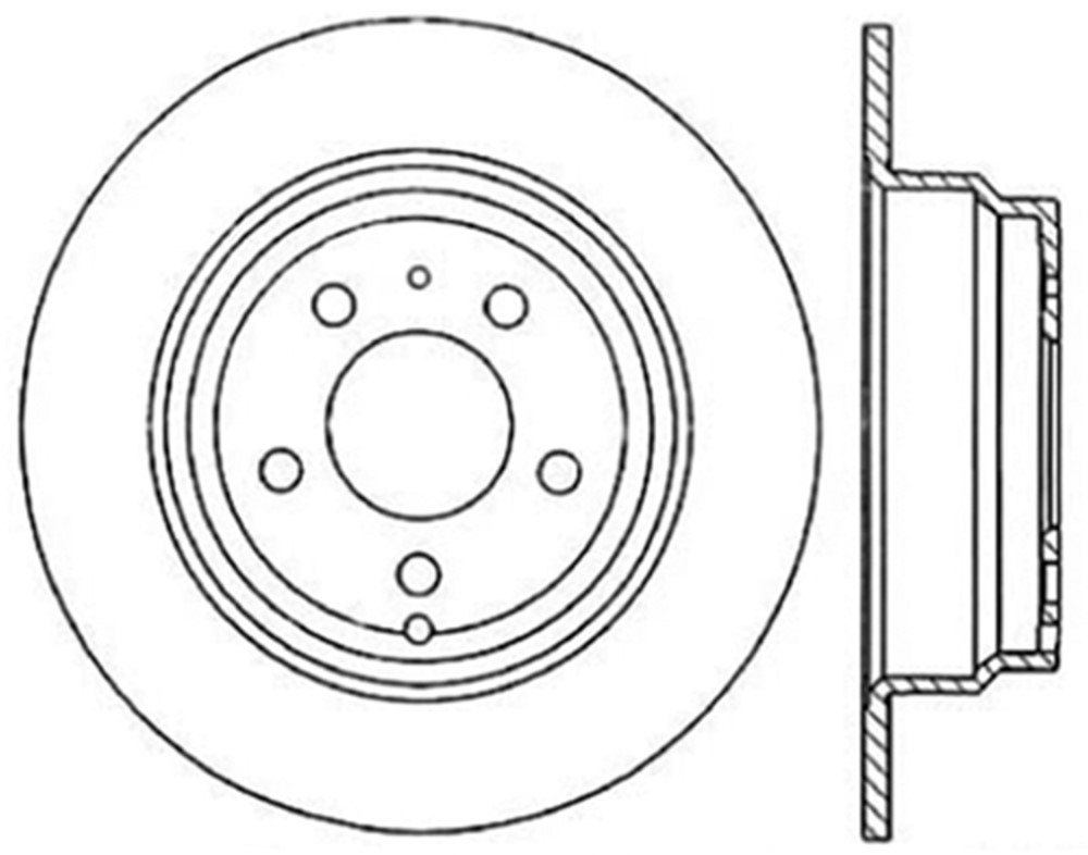 Centric Parts 121.39019 Front Disc Brake Rotor