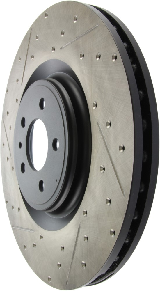 Front Left StopTech 127.61106L Sport Drilled//Slotted Brake Rotor 1 Pack