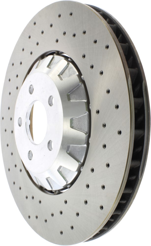 StopTech 128.80003L Sport Cross Drilled Brake Rotor; Front Left