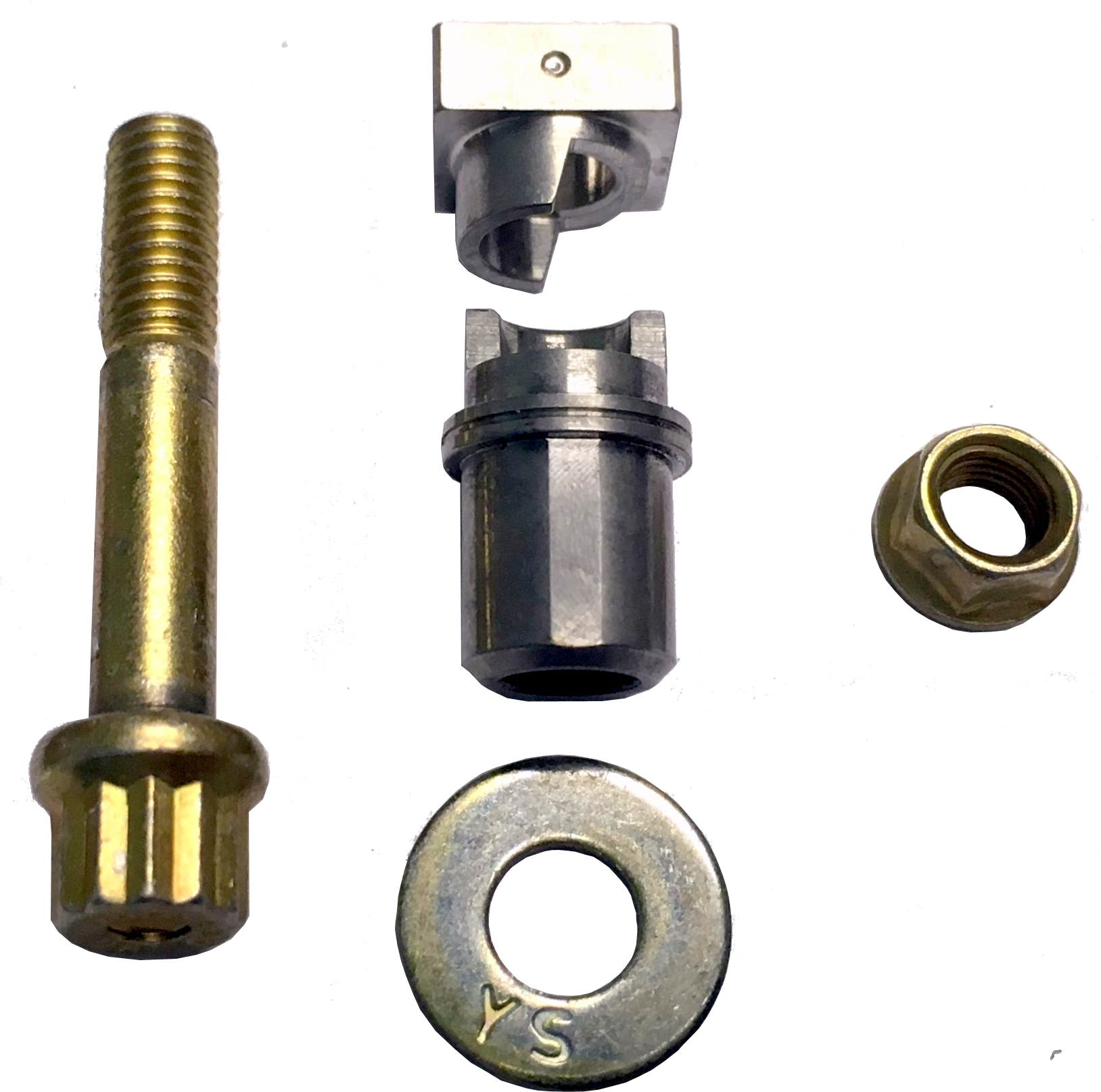 Exploded view of StopTech Wedge Lock Hardware