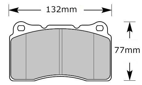 FMSI D1001 pads for Brembo calipers